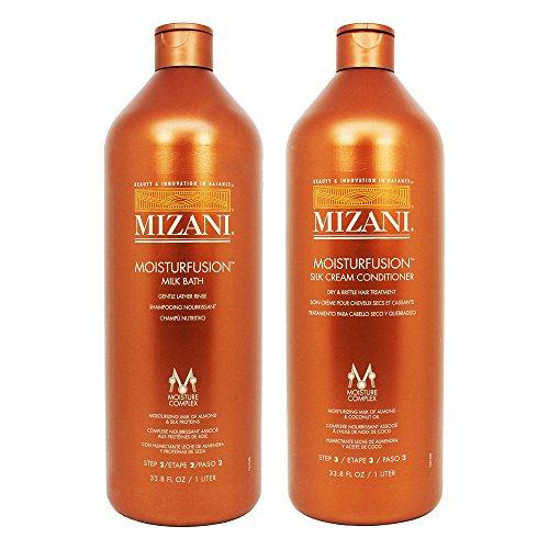 "Mizani Moisturfusion Milk Bath + Silk Cream Conditioner 33.8oz ""Set"""