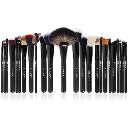 SHANY The Masterpiece Pro Signature Brush Set - 24pcs Handmade Natural/Synthetic Bristle with Wooden