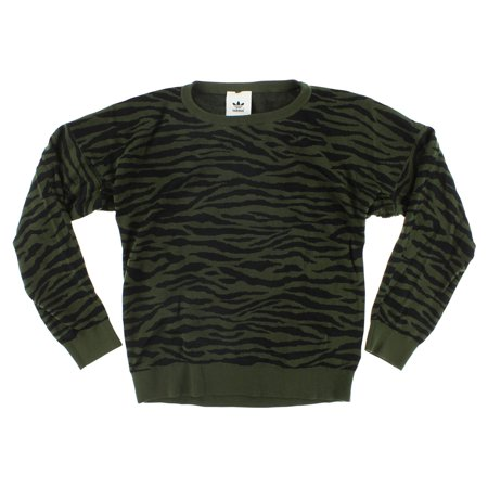 Adidas Womens Tiger Camo Sweater Army Green S (Adidas Wool Sweater)