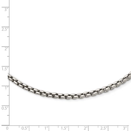 Stainless Steel Polished Fancy Link 3.80mm Chain Necklace 19.75in - image 2 of 3
