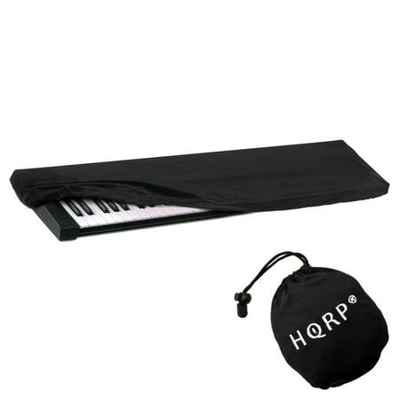 HQRP Elastic Keyboard Dust Cover for Casio CDP-130BK/SR CDP-130BK CDP-130 CDP-220 CDP-100 CDP-120 Digital Piano Synthesizer plus HQRP Coaster (Cover For Piano Casio)