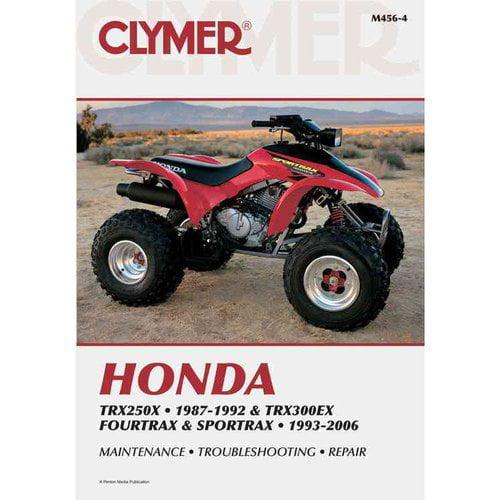 Clymer Honda TRX250X 1987-1992 & TRX300EX Fourtrax & Sportrax 1993-2006 (M456-4)