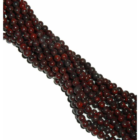 Jasper Rectangle Gemstone Beads (8mm Poppy Jasper Round, Loose Beads, 40cm 15 inch Gemstone )