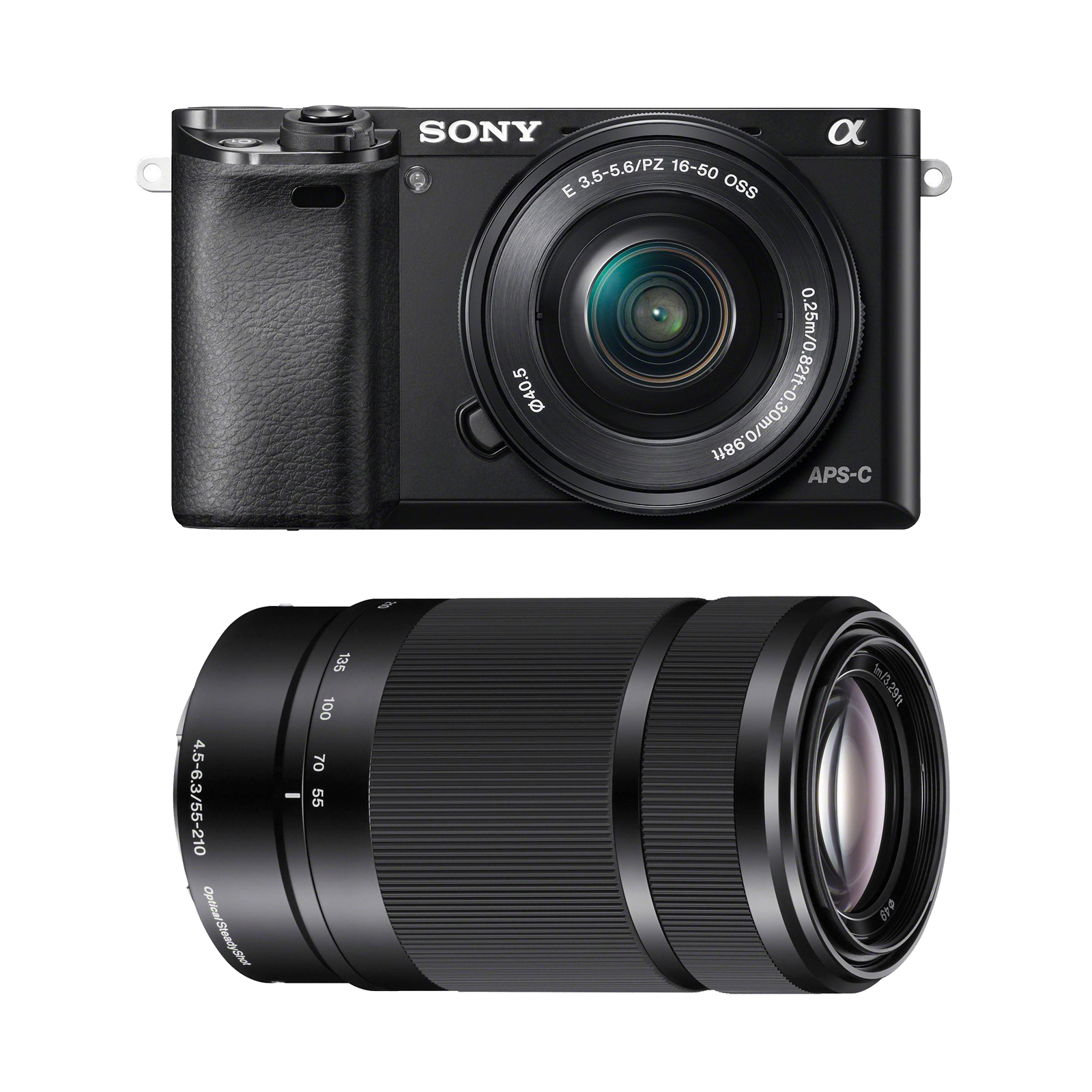 Sony Alpha A6000 Wi-Fi Digital Camera & 16-50mm Lens with E-Mount 55-210mm f/4.5-6.3 OSS Zoom Lens