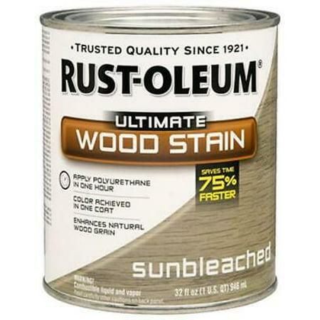 2 PK Rust oleum QT Sunbleached Ultimate Interior Wood Stain 1 Coat Cov
