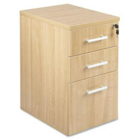 Underdesk Box-Box-File, 15.75 in. x 22 in. x 27.25 in., Latte Aspira Underdesk Pedestal File