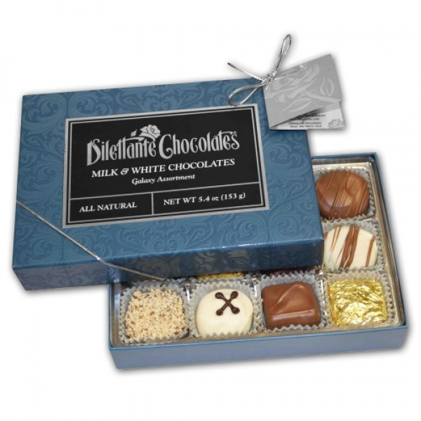 Galaxy Chocolate Gift Box 12 Piece Milk And White Chocolates by
