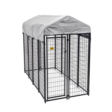 KennelMaster Welded Wire Dog Kennel, 6'H x 4'W x