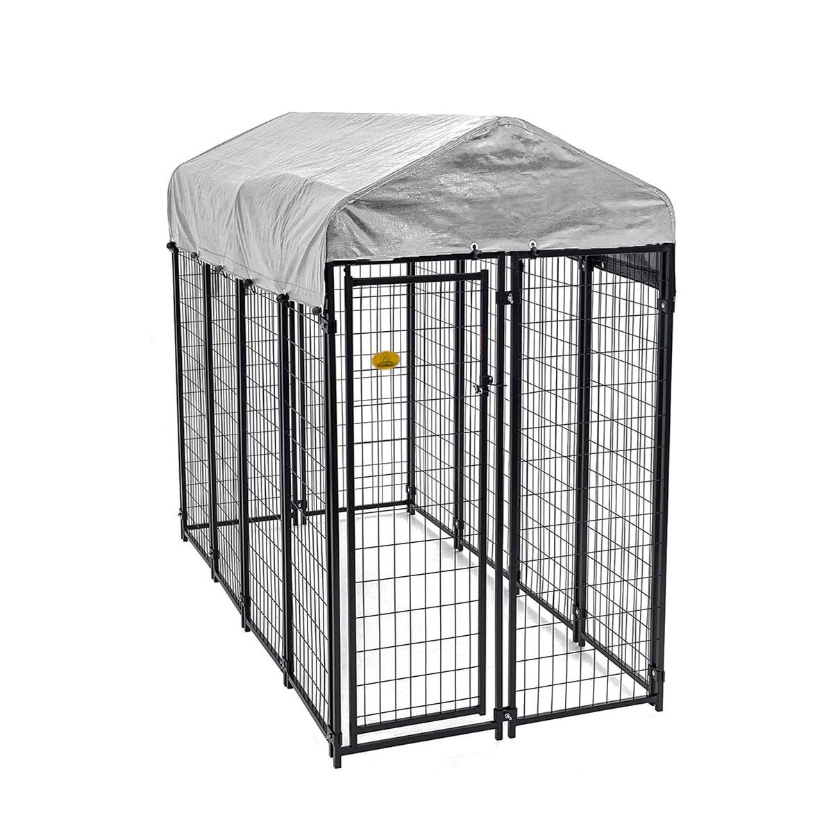 KennelMaster Welded Wire Dog Kennel, 6'H x 4'W x 8'L