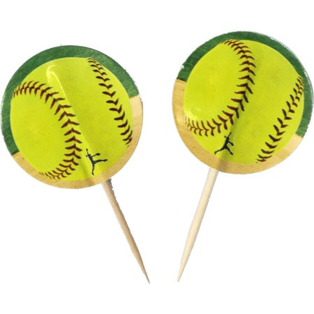 Girl's Fastpitch Softball Party Picks, Includes 24 picks per package By Havercamp - Graduation Party Picks