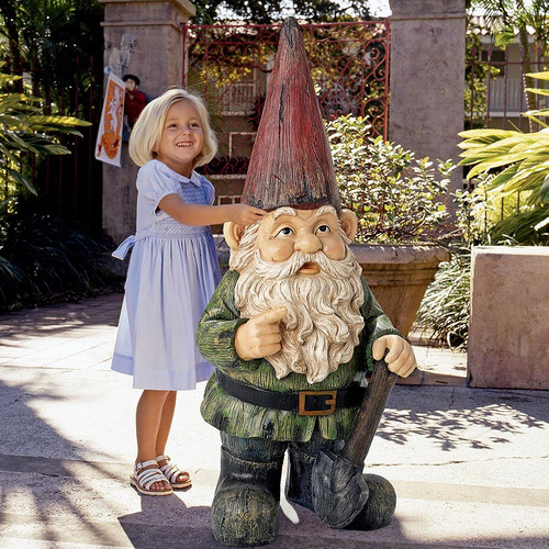 Design Toscano Gottfried, the Gigantic Garden Gnome Statue by Design Toscano
