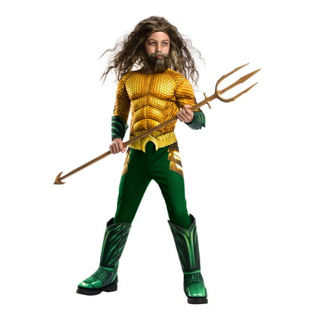 Halloween Aquaman Movie Child Deluxe Aquaman Child Costume (Best Movie Character Costumes)