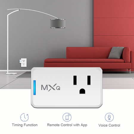 WiFi Smart Plug, Meco WiFi Mini Outlet Wireless Switch Compatible with Alexa &Google Home,Voice Control,No Hub Required,Easy set up, Remote Control Home Devices by