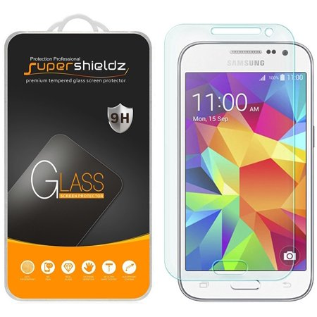 [2-Pack] Supershieldz Samsung Galaxy Core Prime Tempered Glass Screen Protector, Anti-Scratch, Anti-Fingerprint, Bubble Free