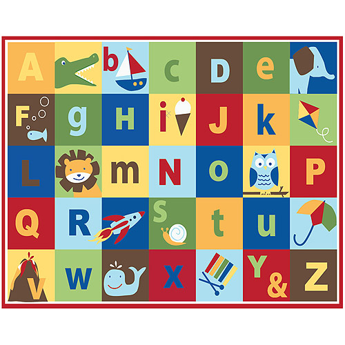 Mainstays Kids Teach Me Alphabet Nylon Rug, Multi-color