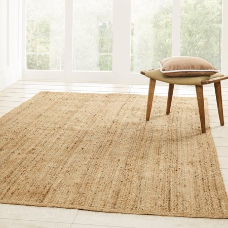 Boucle Jute - Superior Natural Braided Collection Hand Woven Jute Rug - 2' 6
