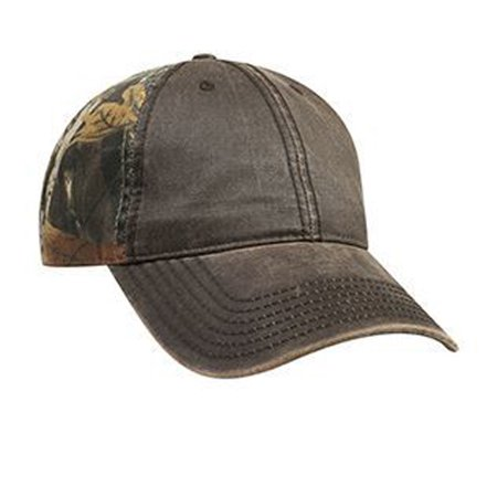 Otto Cap Camouflage Garment Washed Cotton Twill Garment Washed PU Coated Cotton Blend Canvas Low Profile Style Caps - Hat / Cap for Summer, Sports, Picnic, Casual wear and Reunion - Washed Cotton Blend Twill