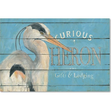 "Trademark Fine Art ""Heron Blue"" Canvas Art by Stephanie Marrott"