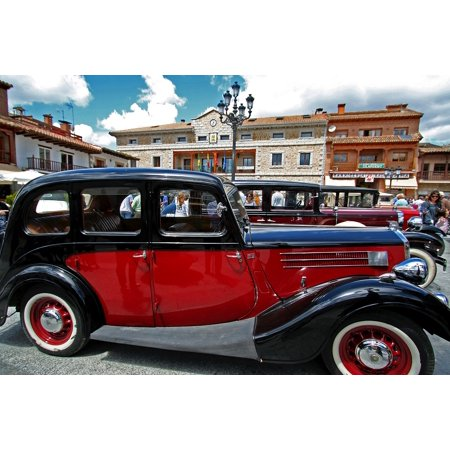 - LAMINATED POSTER Antique Car Spain Vintage Old Vehicle Poster Print 24 x 36