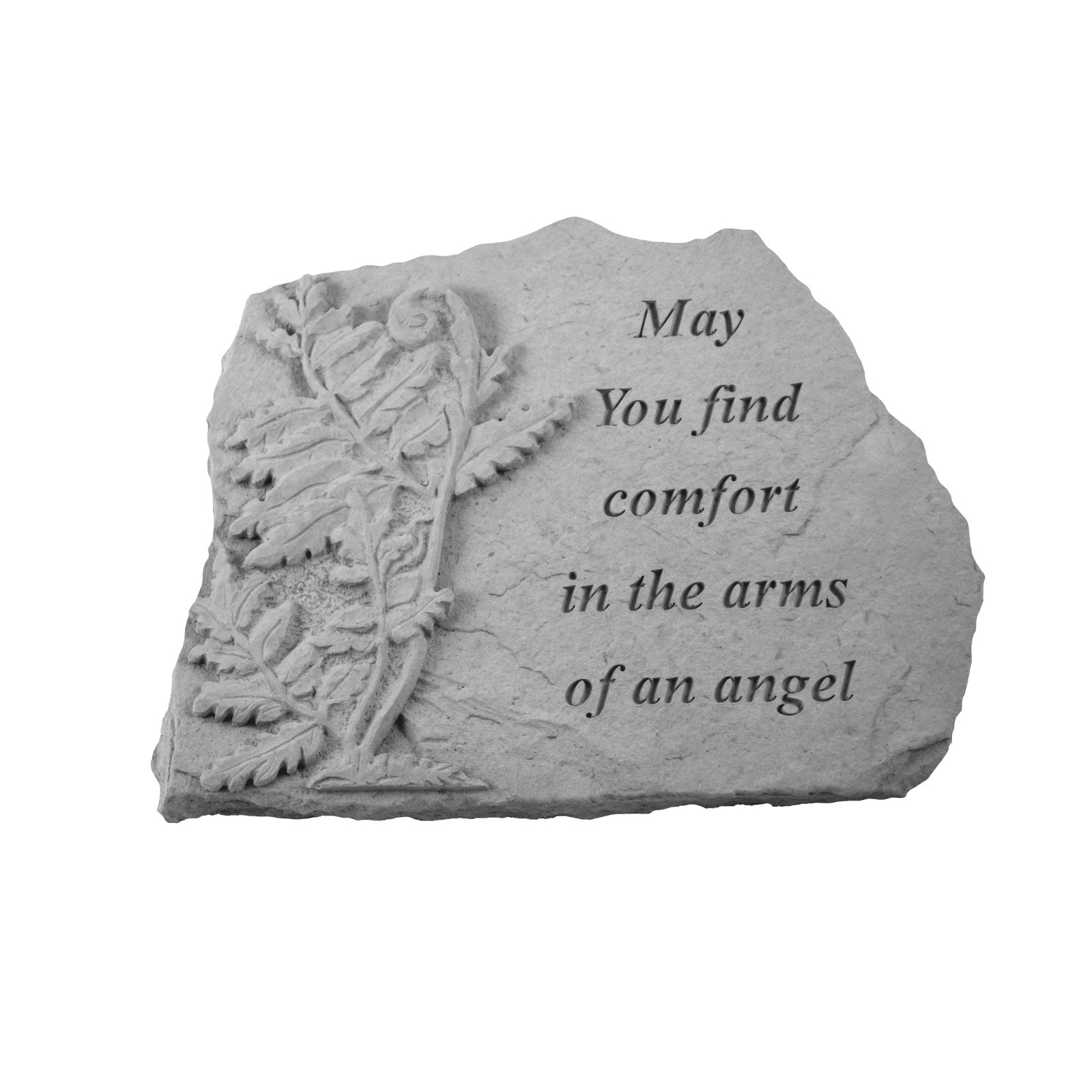 Kay Berry May You Find Comfort Memorial Stone - Fern Design