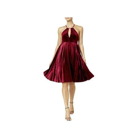 Endless Rose Womens Velvet Pleated Cocktail Dress