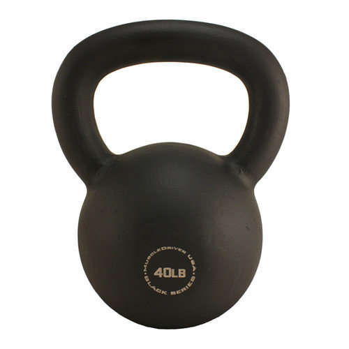 Muscle Driver USA 40 lb Black Series Kettlebell