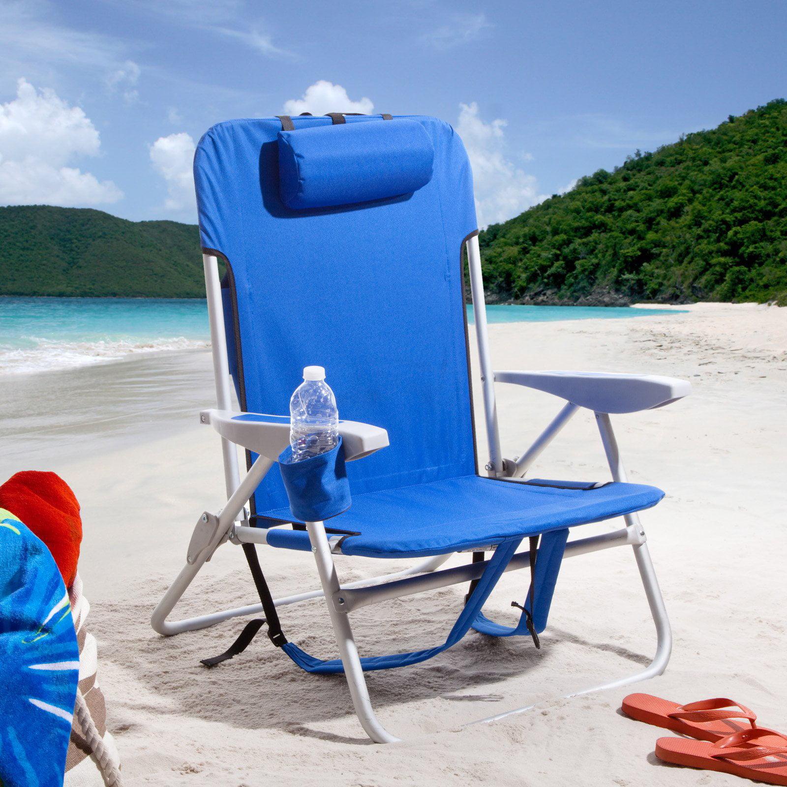 rio extra wide backpack beach chair - walmart