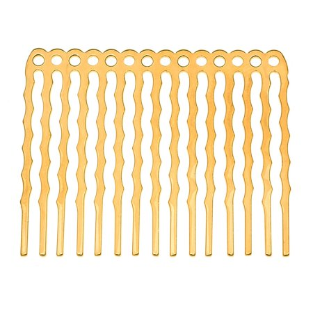 22K Gold Plated Metal Hair Combs - Fun Craft Beading Project 1 3/4 Inches (X6) Craft Hair Combs