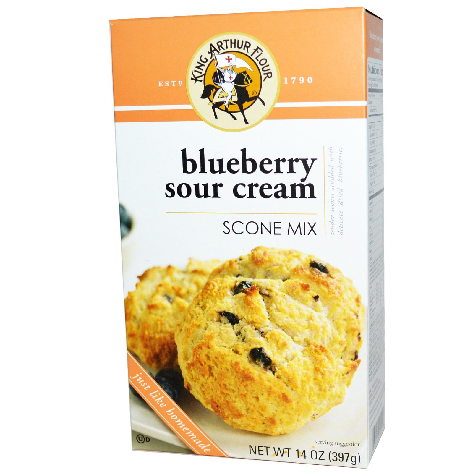 King Arthur Flour Blueberry Sour Cream Scone Mix 14 oz. Box by King Arthur Flour