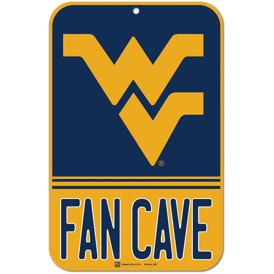 "NCAA West Virginia Plastic Sign, 11"" x 17"""