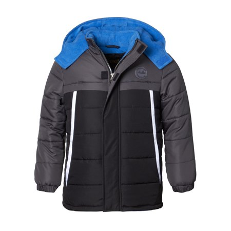 Color Block Puffer Jacket (Big Boy) (Leather Jacket For Boys)