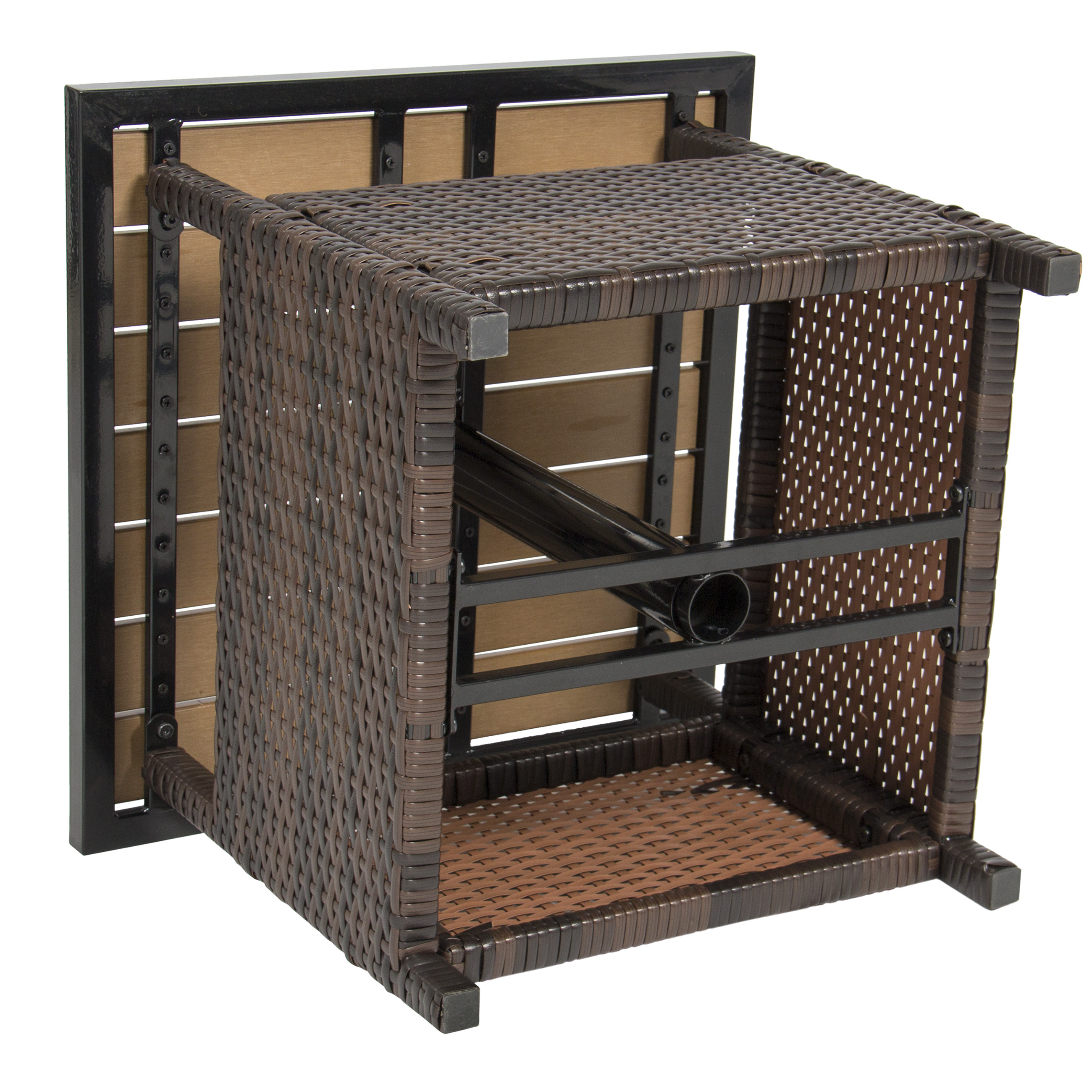 Best Choice Products Outdoor Furniture Wicker Rattan Patio Umbrella Stand  Table For Garden, Pool Deck   Brown   Walmart.com