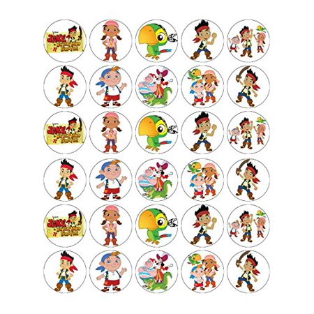 Jake And The Neverland Pirates Cupcake Toppers Wafer Paper BUY 2 GET 3RD (Jake And The Neverland Pirates Cupcake Wrappers)