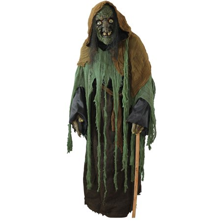 Life Size Standups (Aahs Engraving Halloween Haunted House Life Size Cardboard Stand Up (Green Witch Stand)