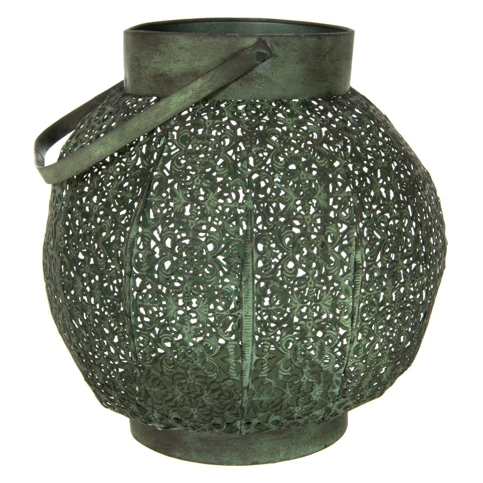 Green Patina Wrought Iron Lantern