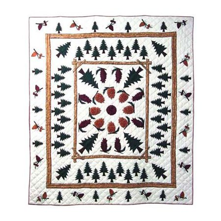 Patch Magic Pinewood Throw 50  X 60