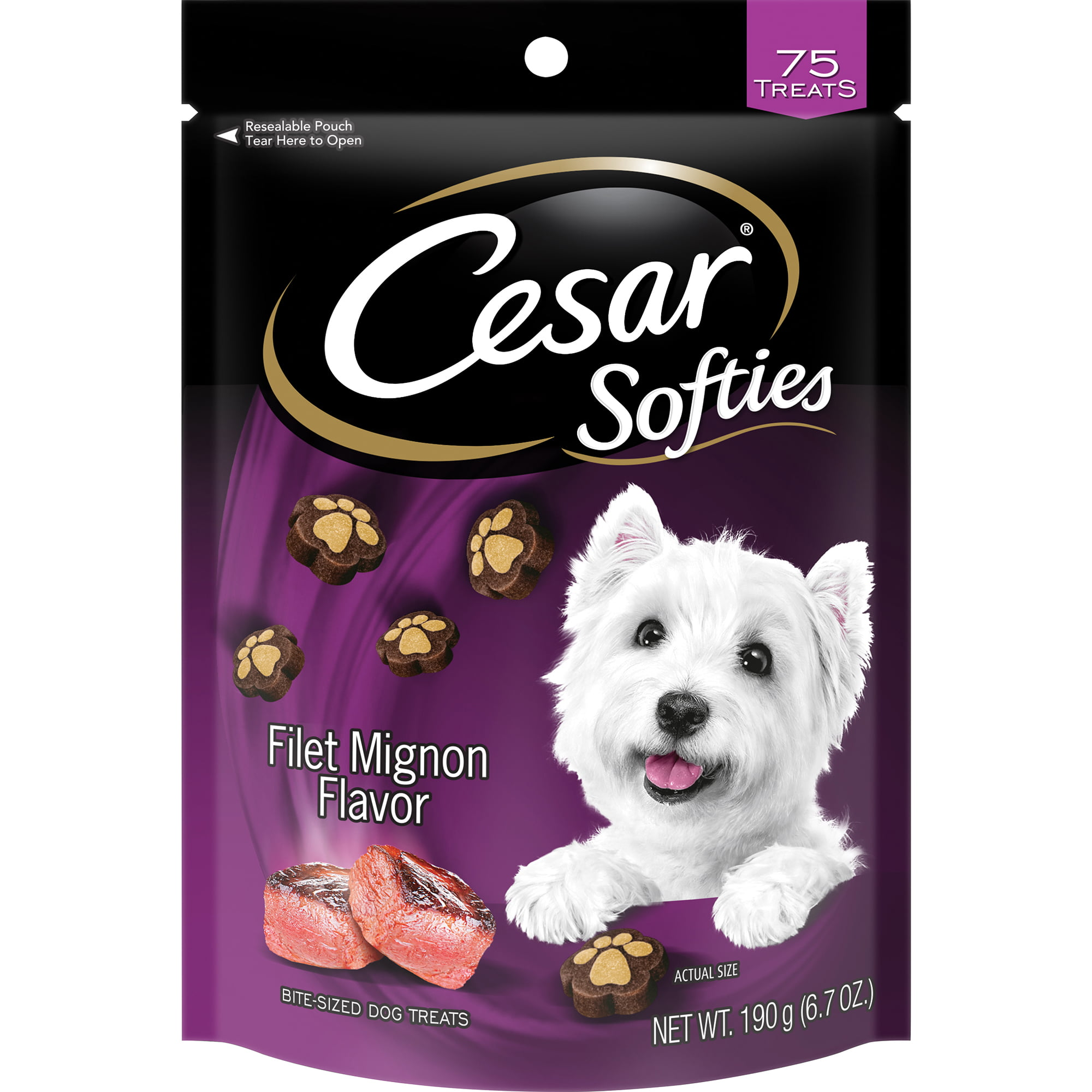 CESAR SOFTIES Filet Mignon Flavor Dog Treats 6.7 oz. 75 Treats by Mars Petcare