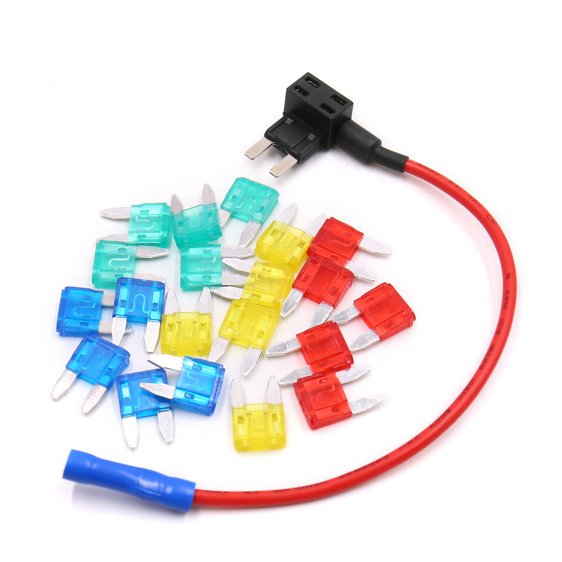 Car Add-A-Circuit 10A 15A 20A 30A ATM APM   Style Fuse Holder Tap