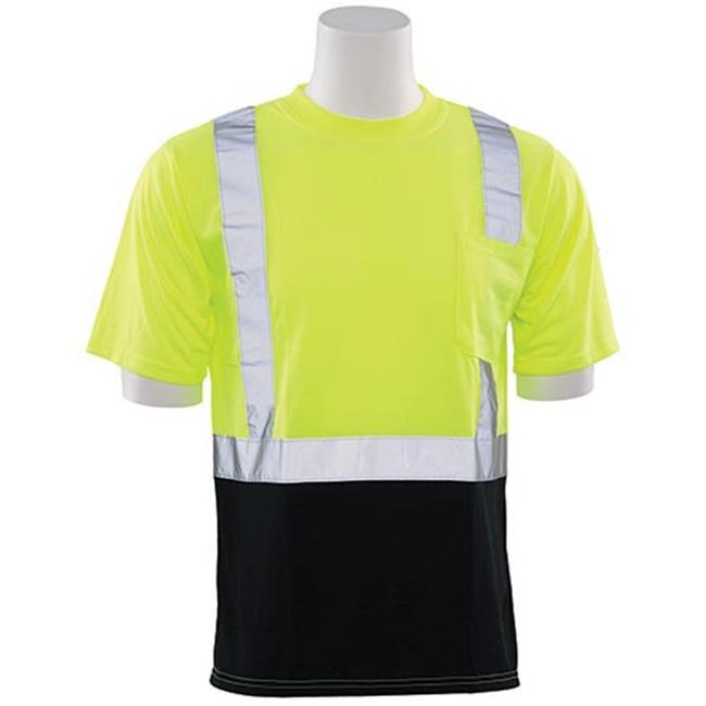 Hi-Viz Reflective Class 2 Black Bottom T-Shirt, Lime - 5XL - image 1 de 1