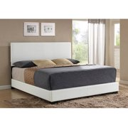 Ireland King Faux Leather Bed, White