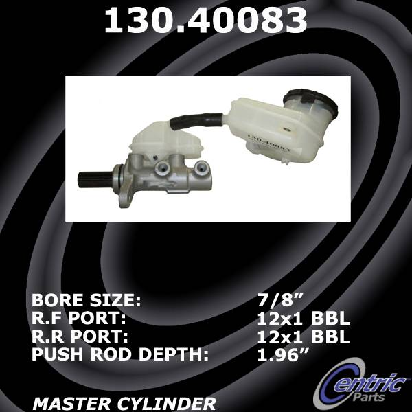 Centric Parts Lower 130.40083 Brake Master Cylinder for 13-16 Honda CR-V