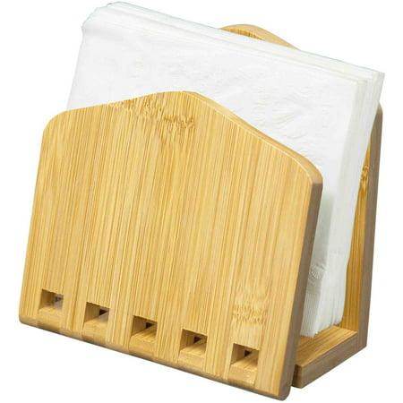Home Basics Expandable Napkin Holder, Bamboo