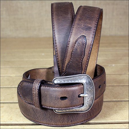 3D 32 x 1 1/2 INCH CRAZY CORRECT BROWN MEN'S WESTERN BASIC LEATHER