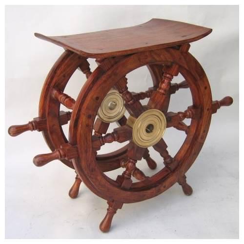Ship Wheel Table - 24 in.