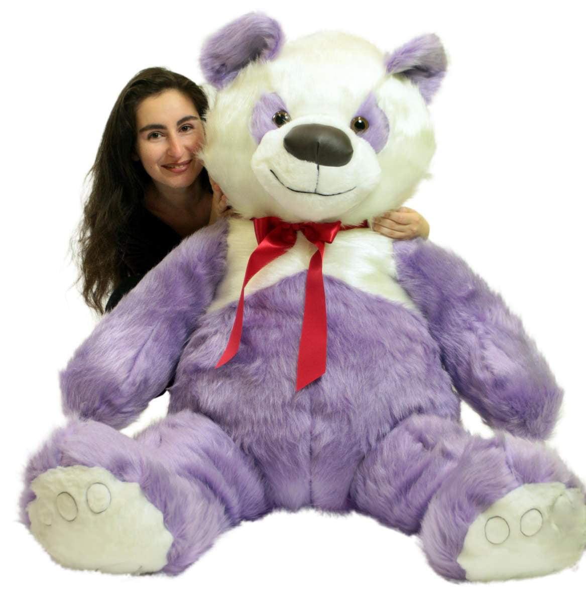 American Made Giant Stuffed Purple Panda Bear 60 Inch Soft 5 Foot