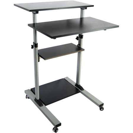 Hp Nw8440 Mobile Workstation (VIVO Mobile Height Adjustable Stand Up Desk/ Computer Work Station Presentation Cart (CART-V02D))