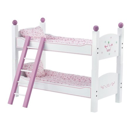 18 inch doll stackable bunk bed hand painted 2 sets of quilted bedding mattress ladder. Black Bedroom Furniture Sets. Home Design Ideas