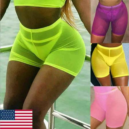 The Noble Collection Women Cotton Spandex YOGA GYM Biker Shorts Workout Casual Legging Beach Wear Cotton Spandex Yoga Workout Pants