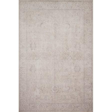 Loloi II Loren Collection LQ-12 Sand Oriental Area Rug 2-6u0022 x 7-6u0022