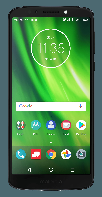 Verizon Wireless Motorola MOTXT19226 Moto G6 Play 16GB Prepaid Smartphone (Black)